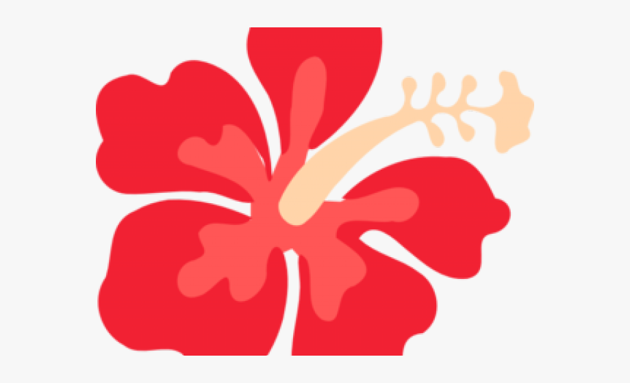 Transparent hibiscus clip . Hawaiian clipart hawaiian floral