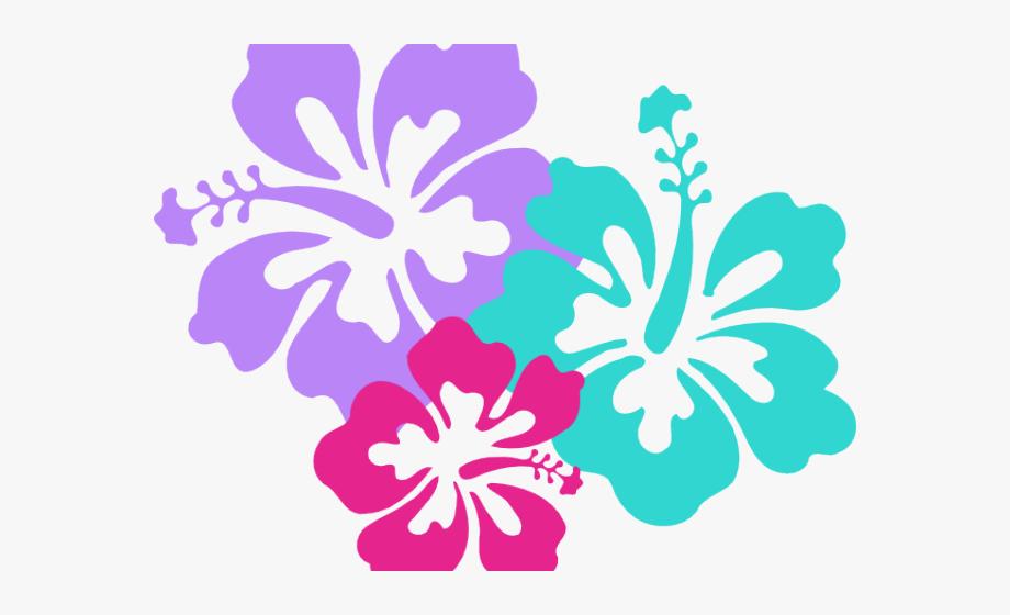Clip art flower black. Hawaiian clipart hawaiian floral
