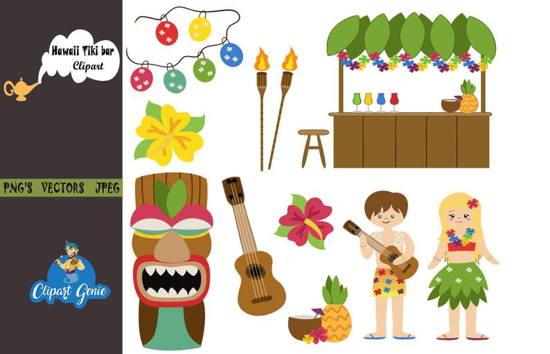 Hawaiian clipart hawaiian party. Girl hawaii luau beach