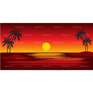 Free images at clker. Sunset clipart hawaiian sunset