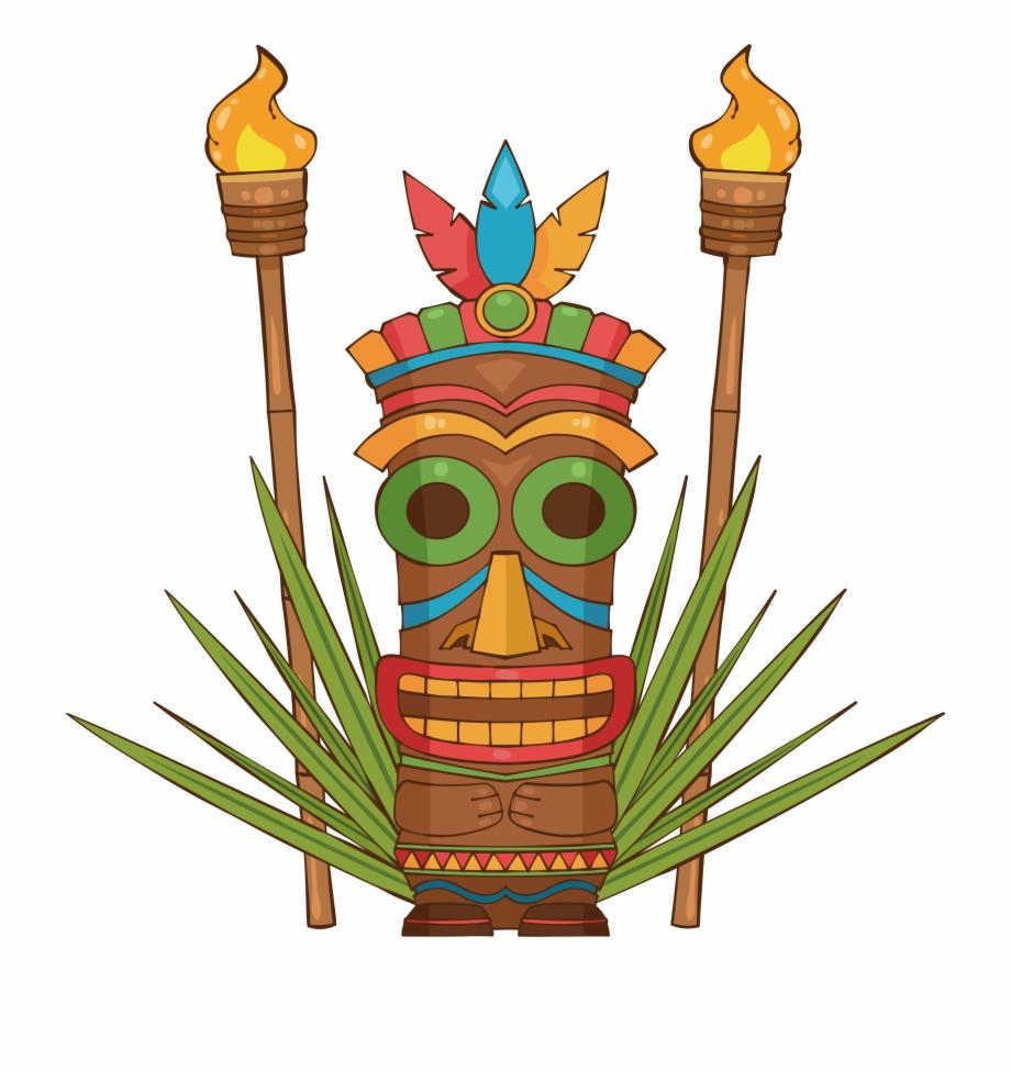 Hawaiian clipart tiki torch. Hawaii funcandi mask png