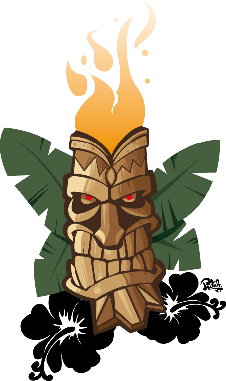 Hawaiian clipart totem pole. Desihn de tatouage tiki