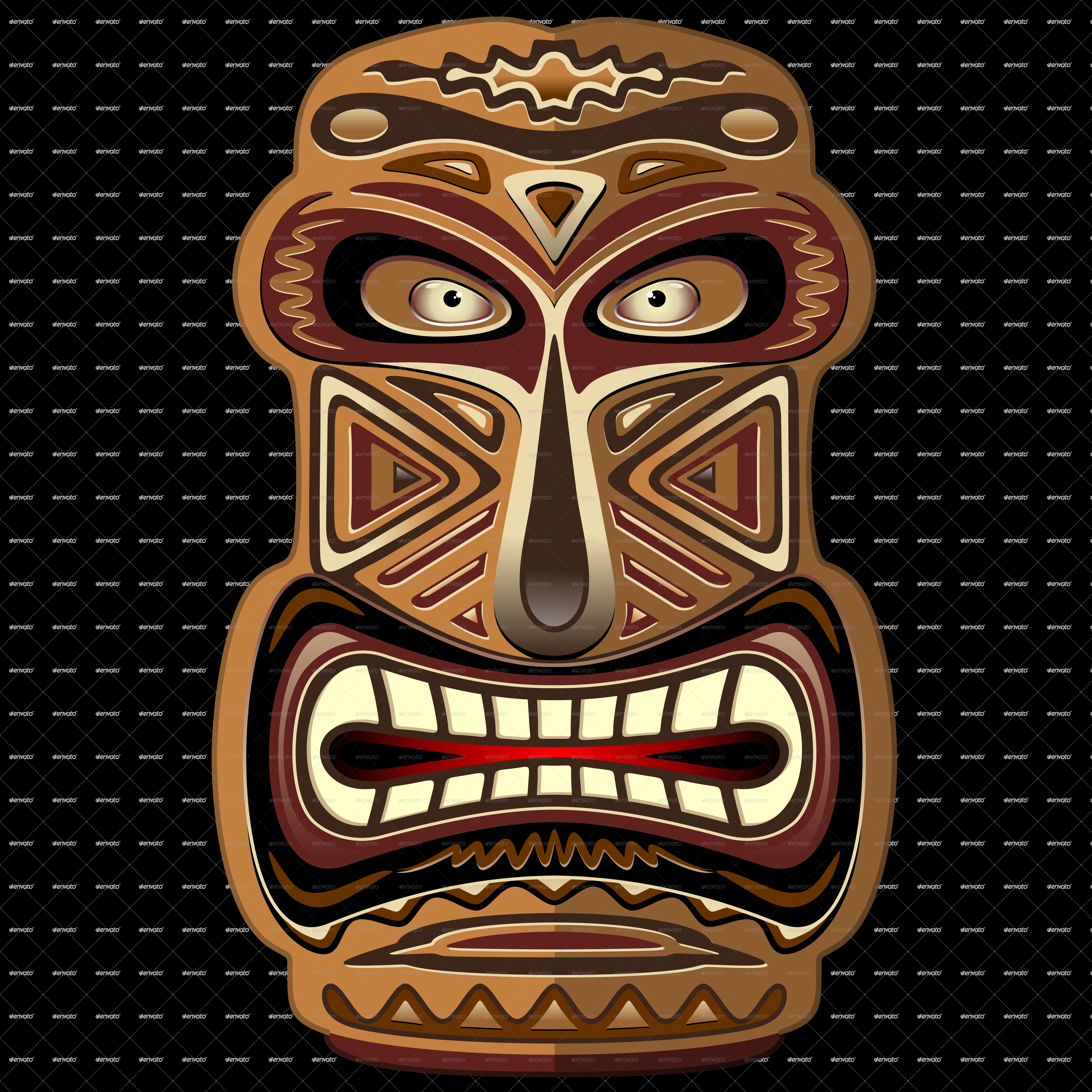 Hawaiian clipart totem pole. Pin by nadia munaro