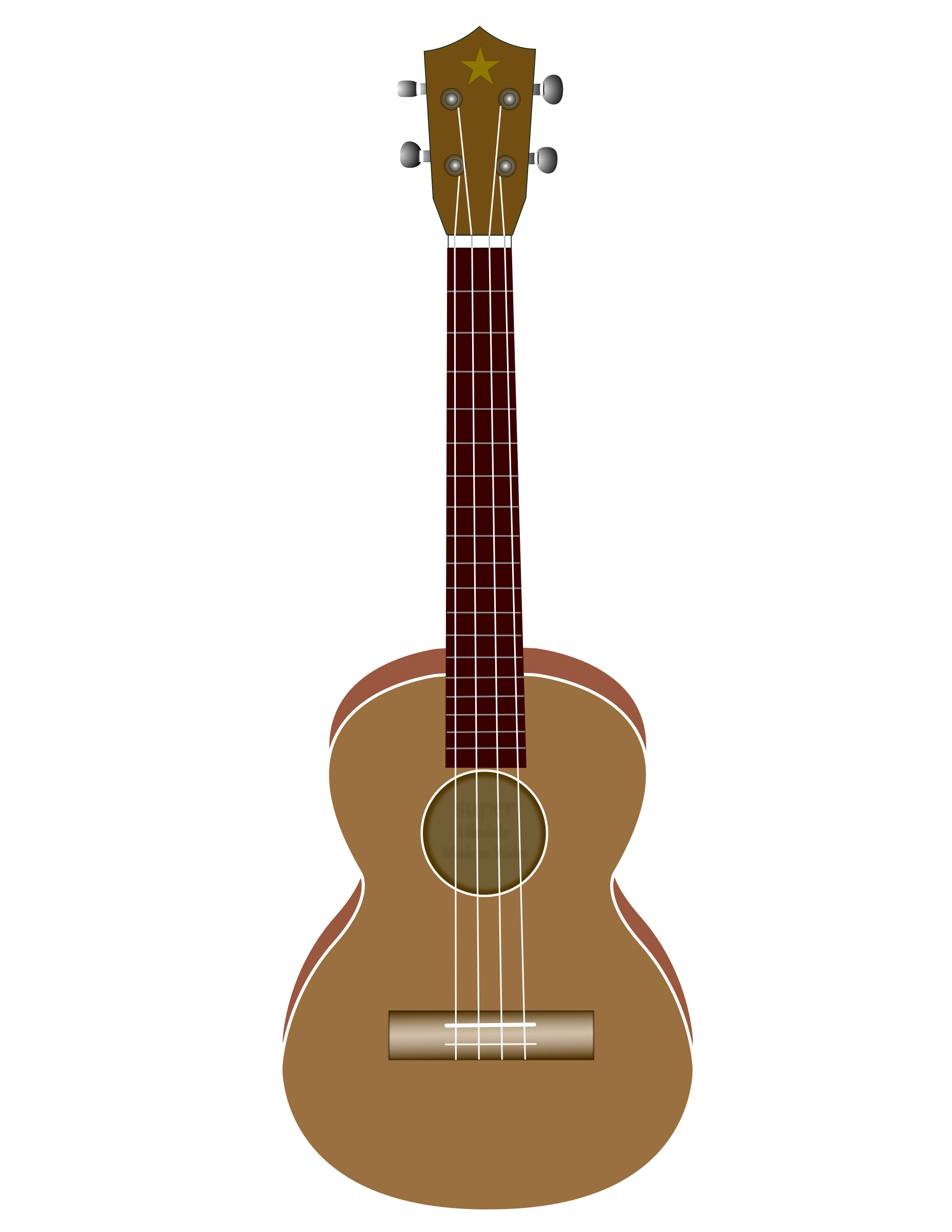 red clipart ukulele #140583925