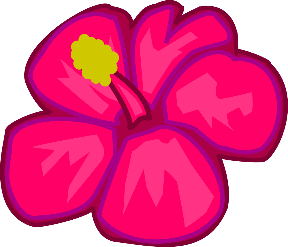 Cartoon flowers gallery flower. Hawaiian clipart volcano hawaii
