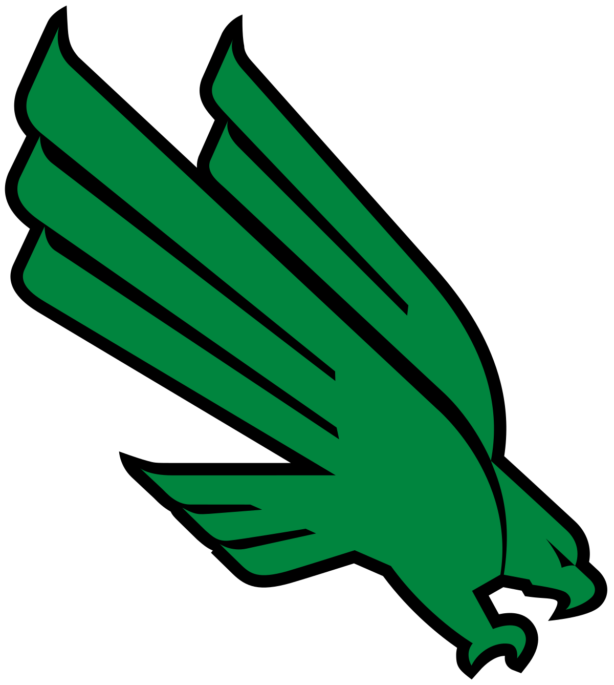 North texas mean green. Wing clipart track and field