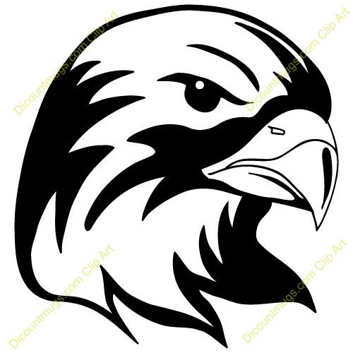 X free clip art. Hawk clipart hawk head