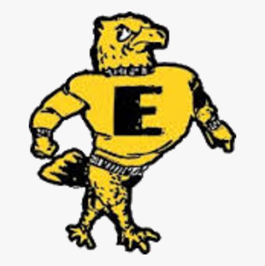 Emmetsburg high school logo. Hawk clipart hayfield