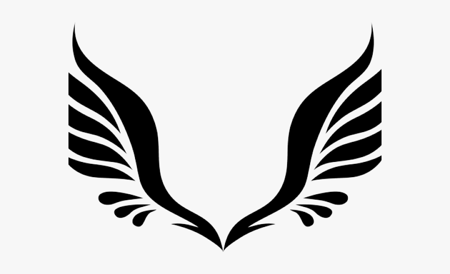 Hawk clipart wings. Tribal angel black and