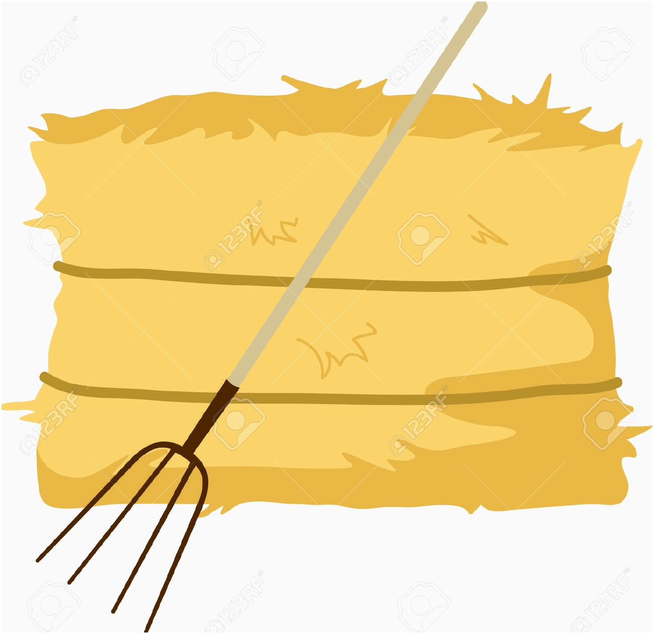New straw bale clipground. Hay clipart