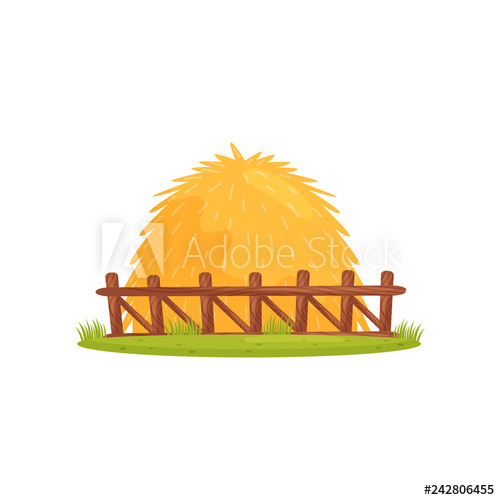 Large pile of dry. Hay clipart farm theme