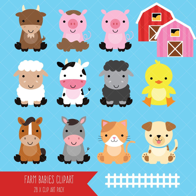 Hay clipart farm theme. Baby animals cute animal