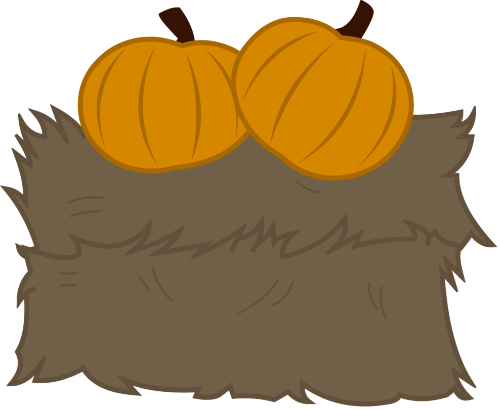 With pumpkins by lt. Hay clipart hay bail