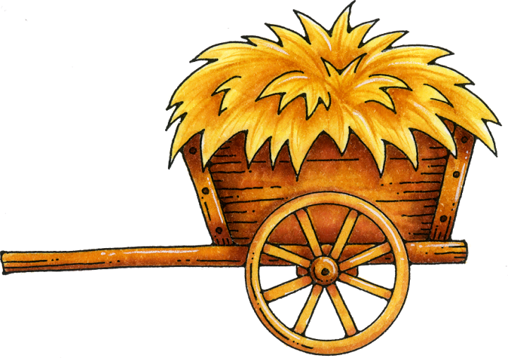 hay clipart hay cart