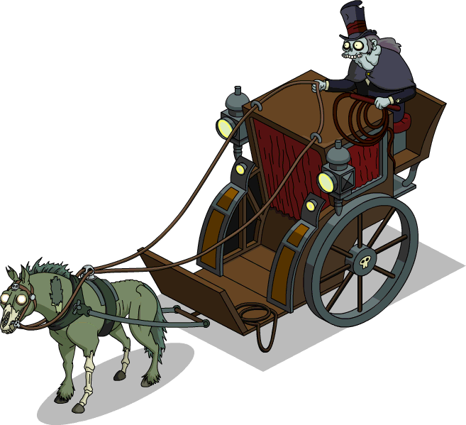 Dark carriage the simpsons. Hay clipart hay cart