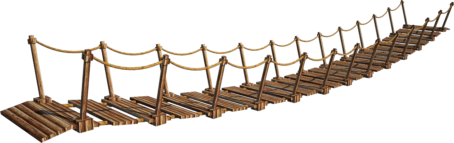 Rope bridge wooden free. Ladder clipart clear background