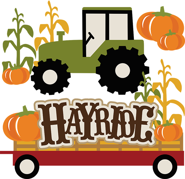 Fall hayride . Wagon clipart settler