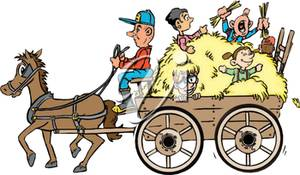 Illustration of a . Hayride clipart