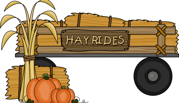 Tipsy tractor hay rides. Hayride clipart