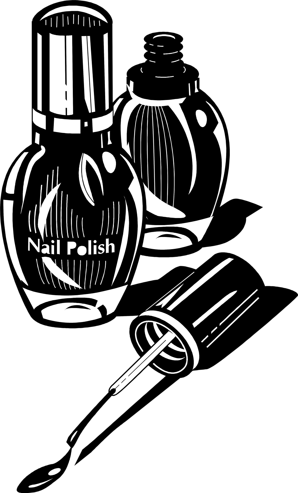 Hayride black and white. Nail clipart nail polish bottle