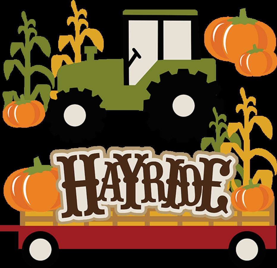 Hayride clipart october school. Hayrides and campfires tickets