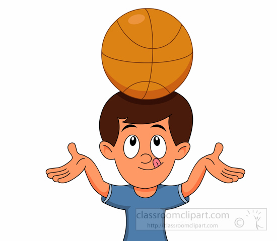 Head clipart. Basketball balancing basket ball