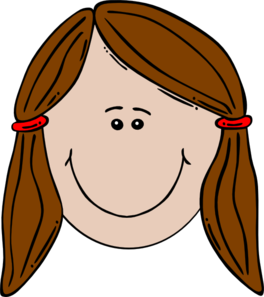 Cute girl . Head clipart