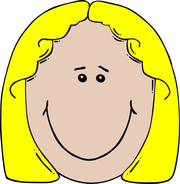 Blone clip art at. Lady clipart aunt
