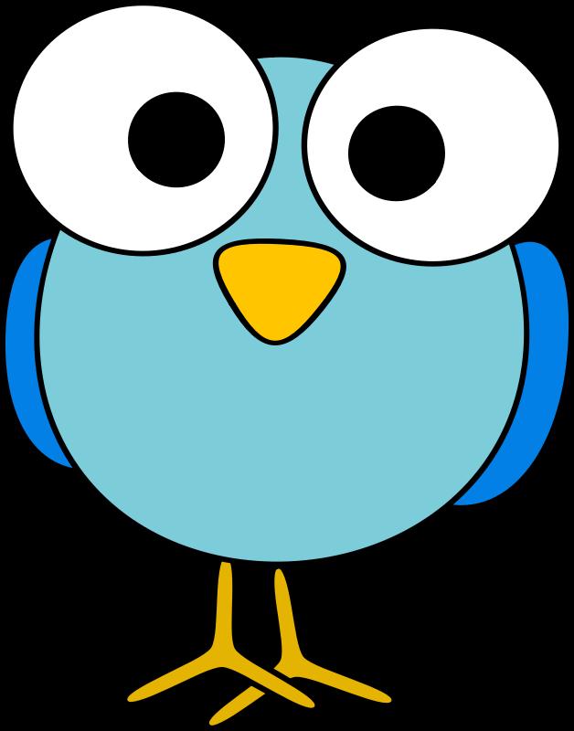Head clipart big bird. Blue googley eyed medium
