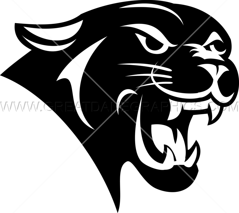 Head production ready artwork. Panther clipart easy