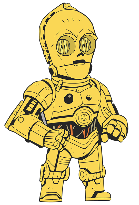 Starwars clipart c3p0. C po at getdrawings