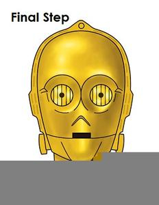 Head clipart c3po. Star wars c po