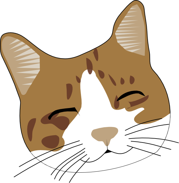Head clipart cat in hat. Face free clip art