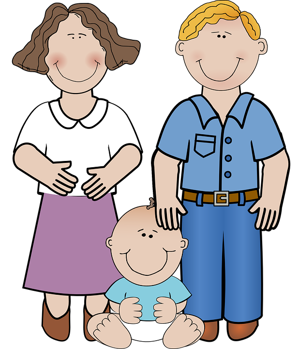 Mothers father child frames. Head clipart dad