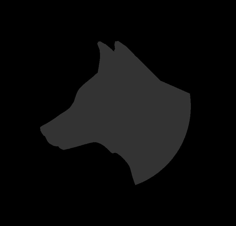 Husky clipart head silhouette. Dog clip art at