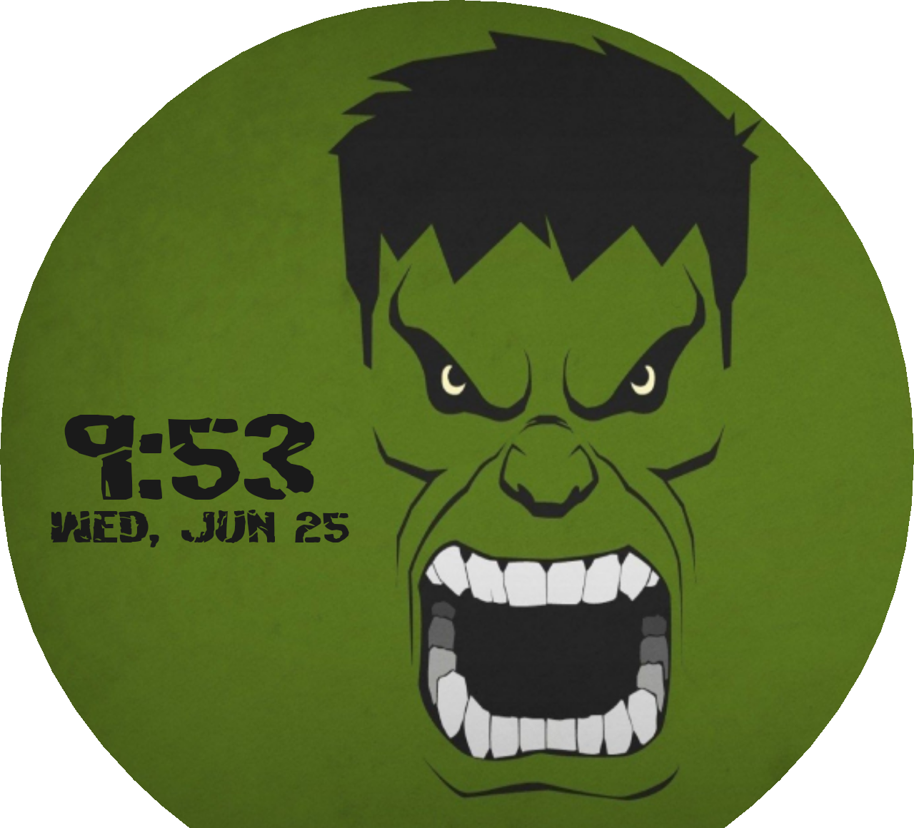Faces with face type. Head clipart hulk