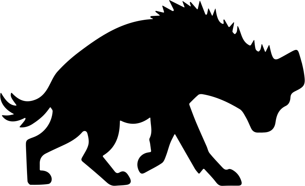 Silhouette at getdrawings com. Head clipart hyena