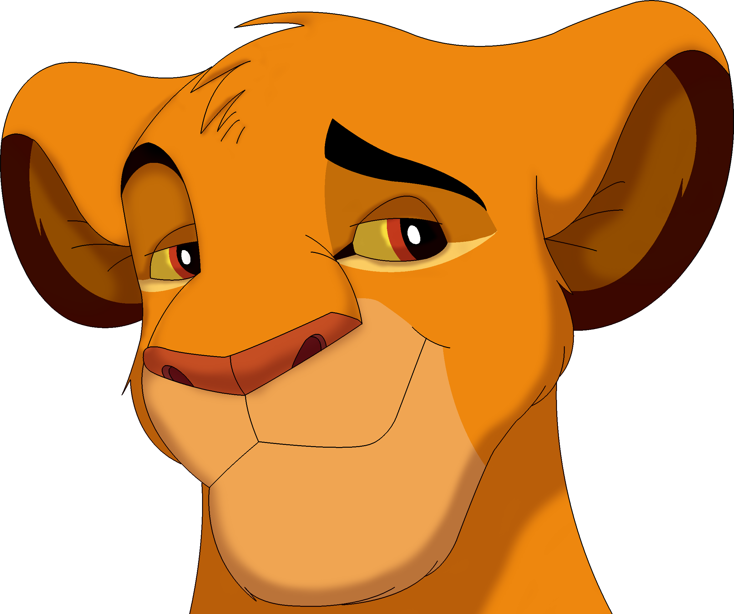 Lion png . King clipart face king