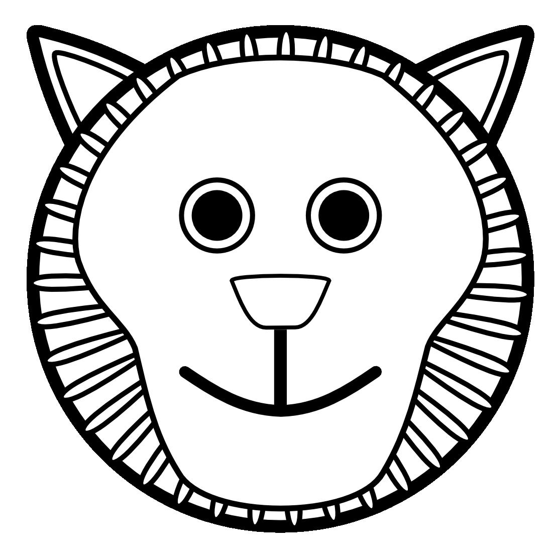 Nose clipart nose drawing. Lion clip art black