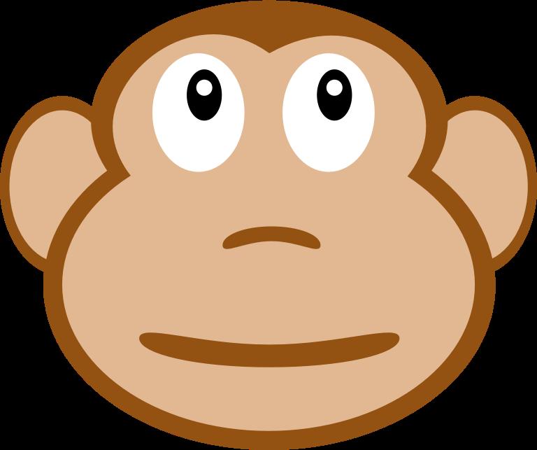 Head clipart music. Monkey face fwd classroom