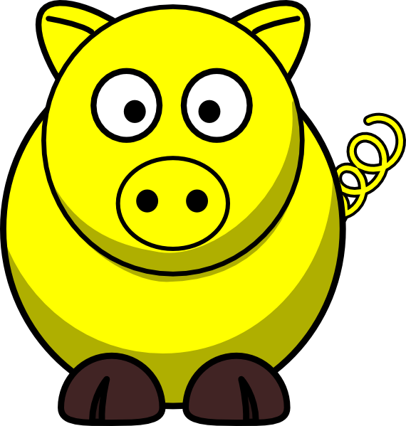 Pig clip art at. Wednesday clipart yellow