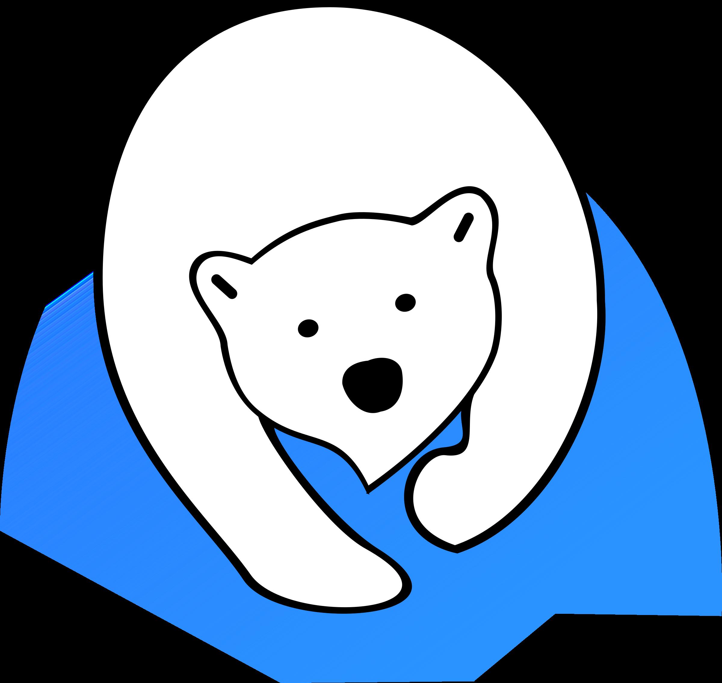 Head clipart polar bear. Big image png