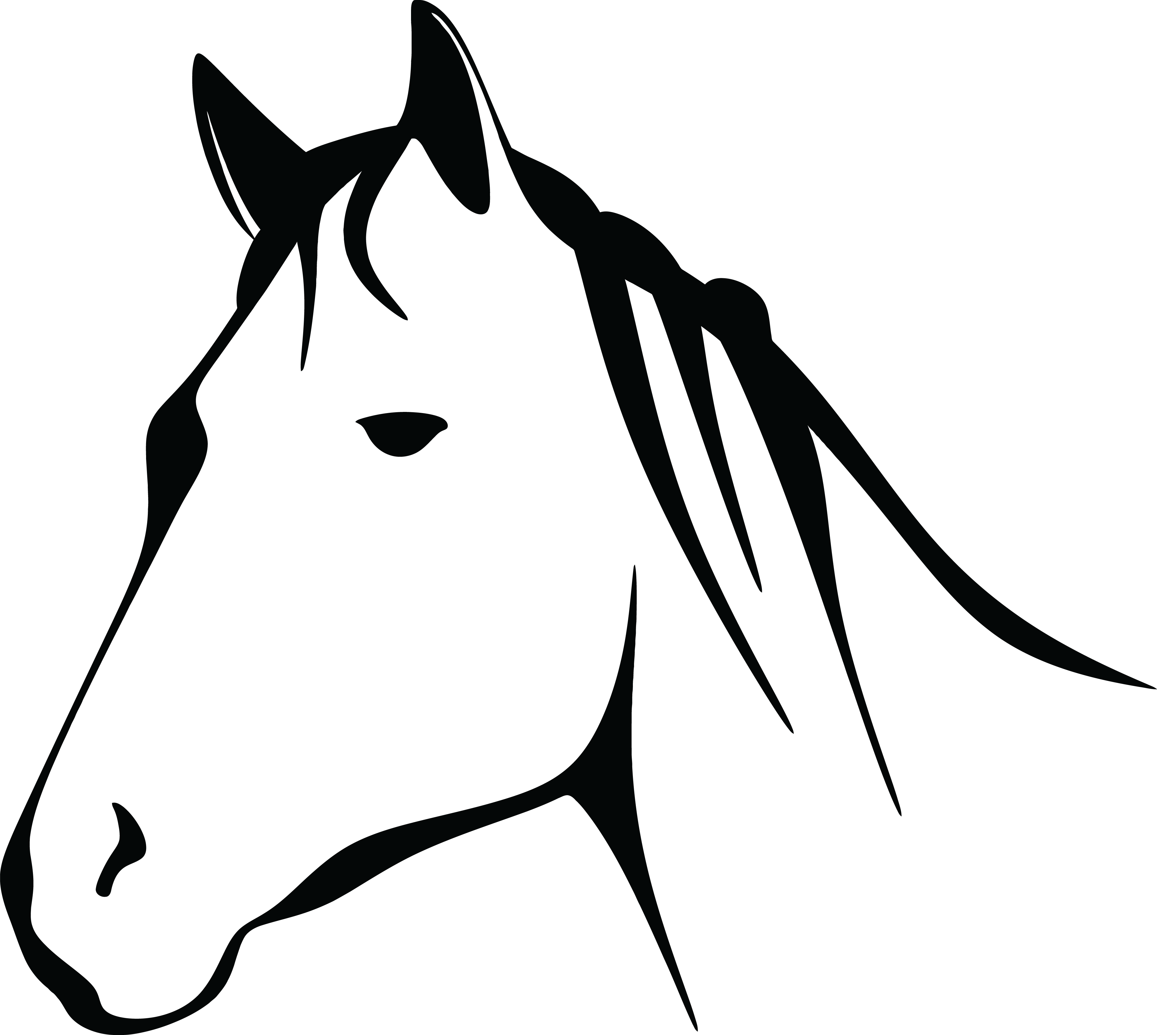 collection of head. Horse clipart template
