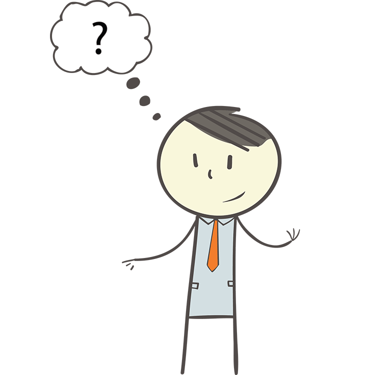 Head clipart question. Person thinking with mark