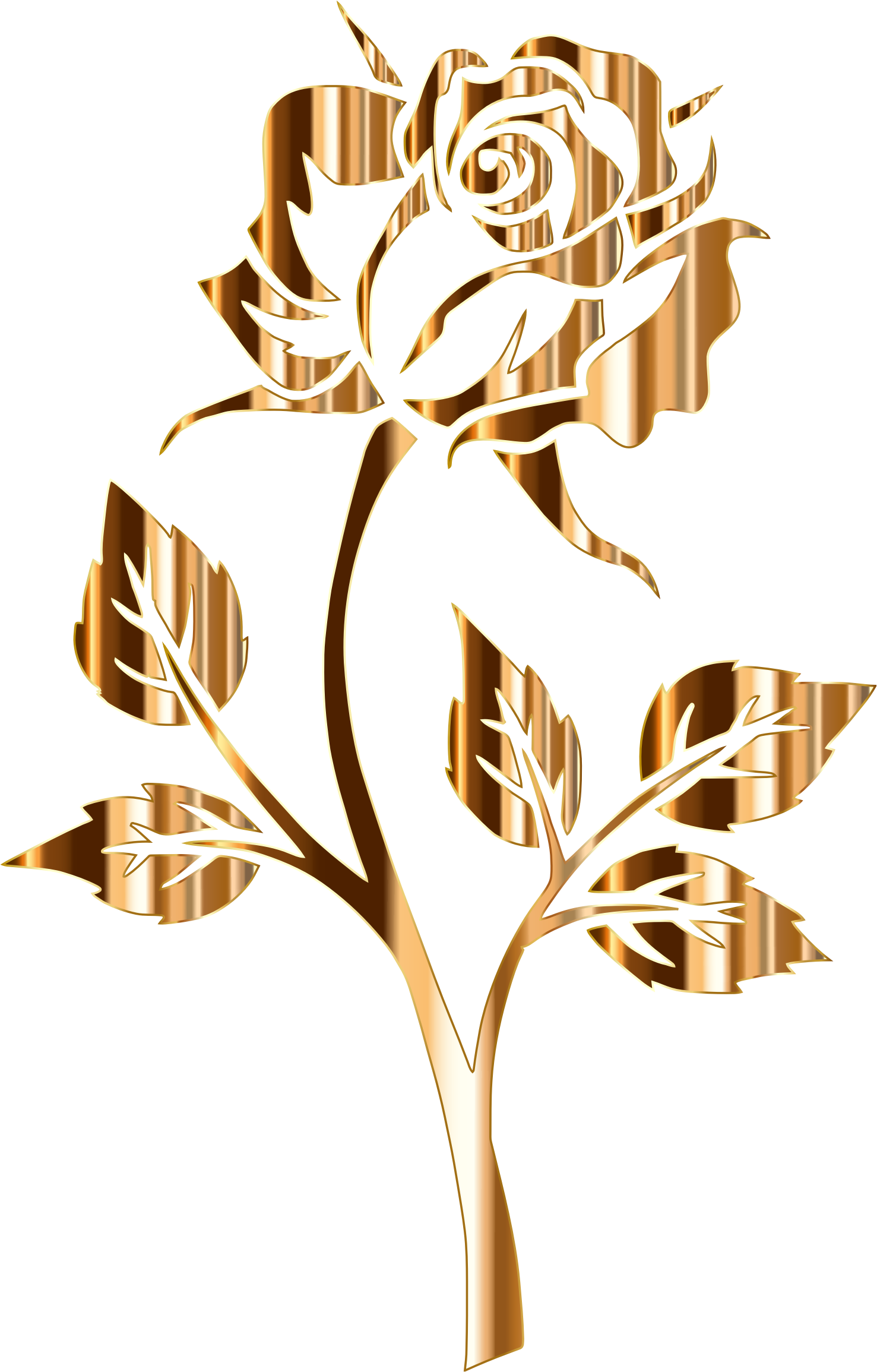 Free Gold Silhouette Cliparts