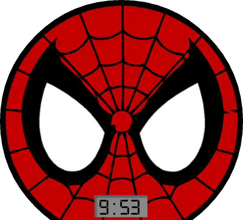 Logo clipart spiderman. Friendly neighborhood spider man