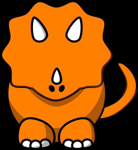 Head clipart triceratops. Orange tricertop dino clip