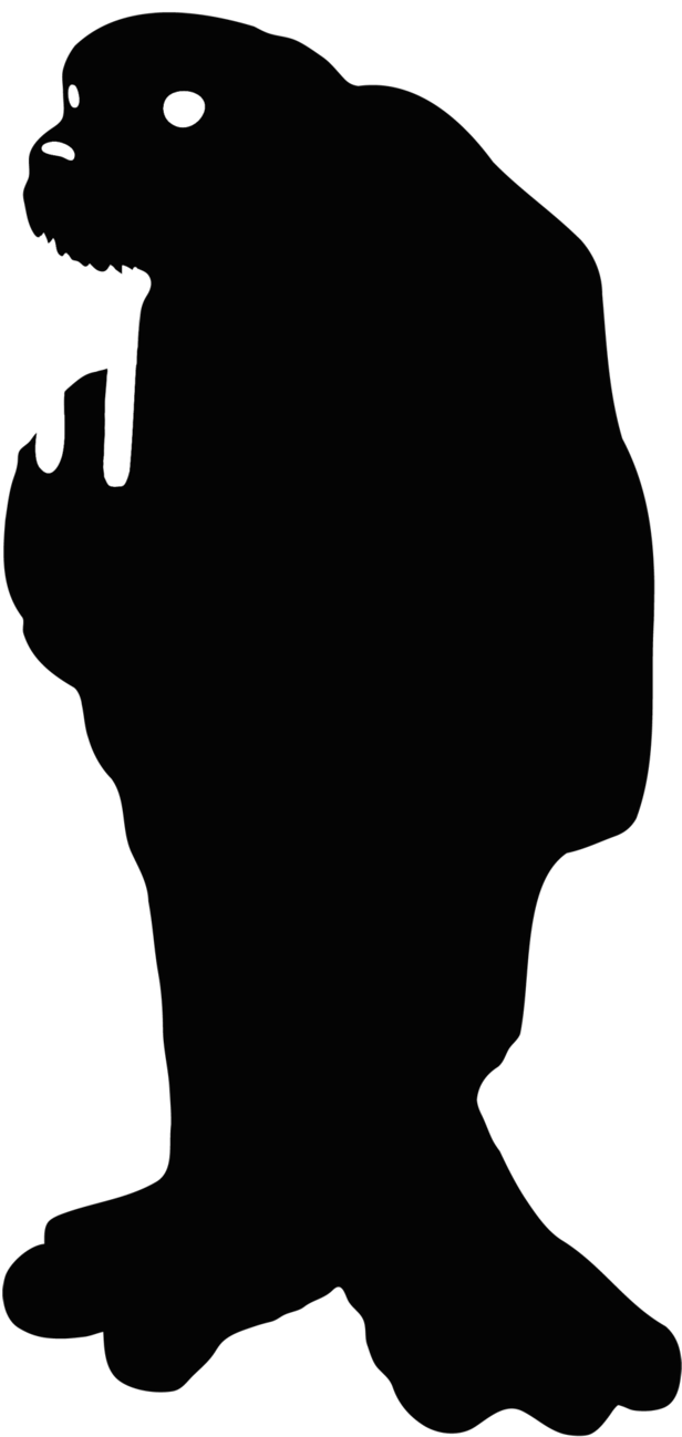 Head clipart walrus. Silhouette at getdrawings com