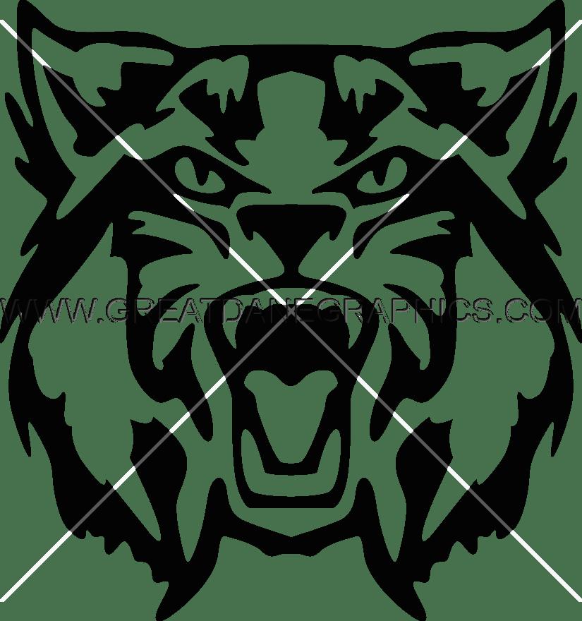 Wildcat clipart lion. Wild cat head production