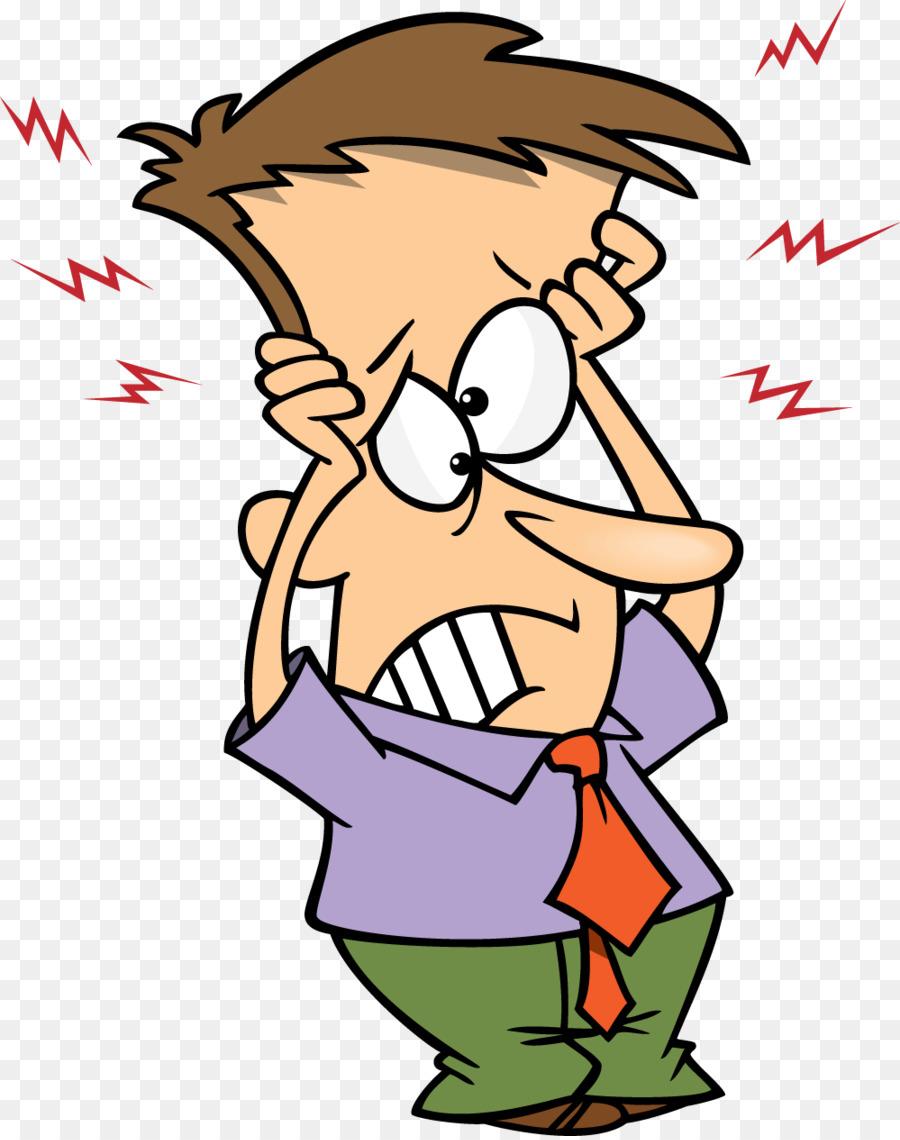 Cartoon clip art png. Headache clipart